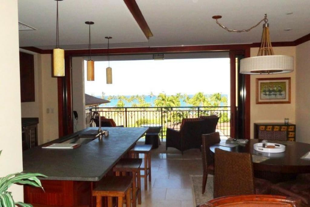 Ocean View from inside the Living Room