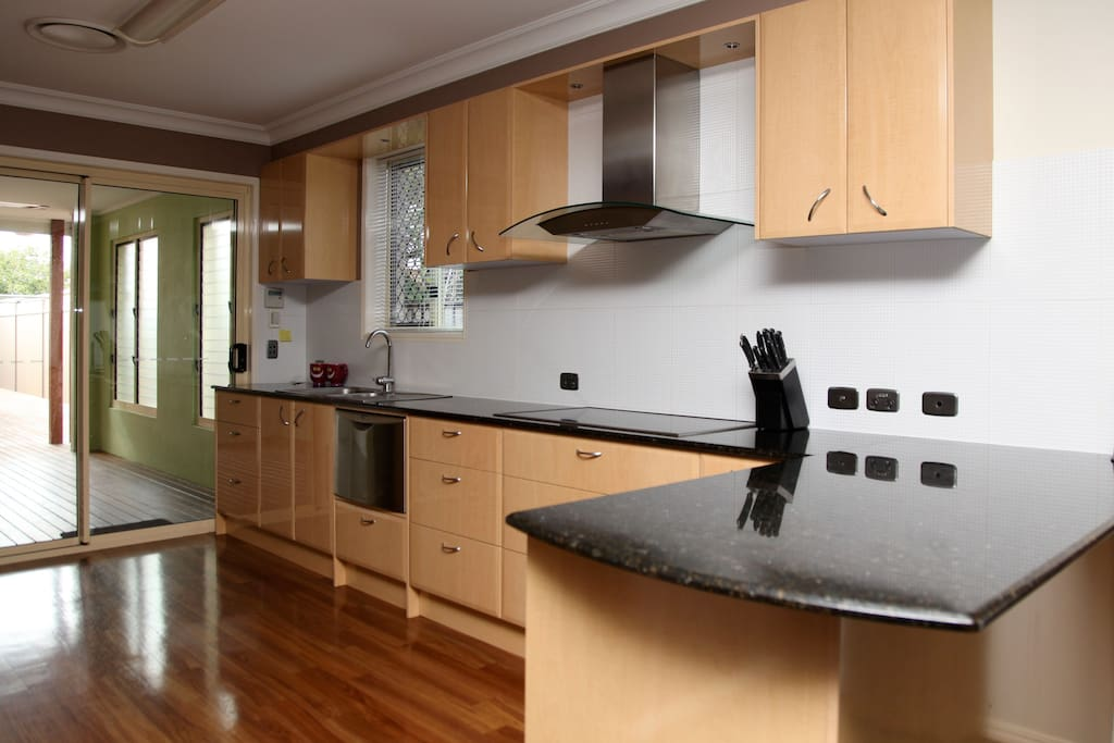 Fully equipped guest kitchen