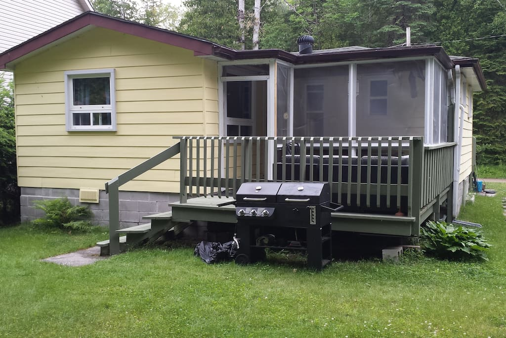 view of back deck with BBQ
