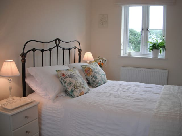Light and airy double bedroom in West Cornwall