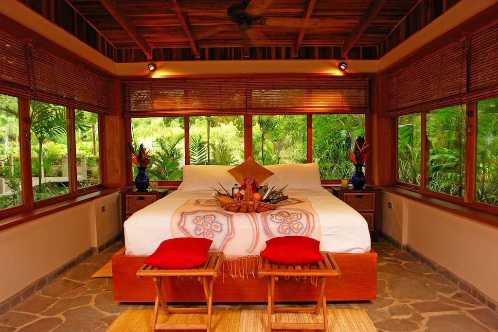 Master Bedroom at Honeymoon Villa - Red Palm Villas Costa Rica