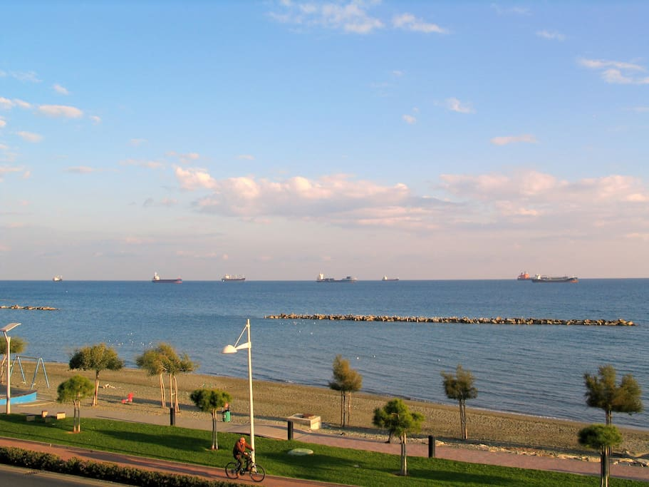 The Mediteranean Sea. As Viewed from one of the apartment's balcony
