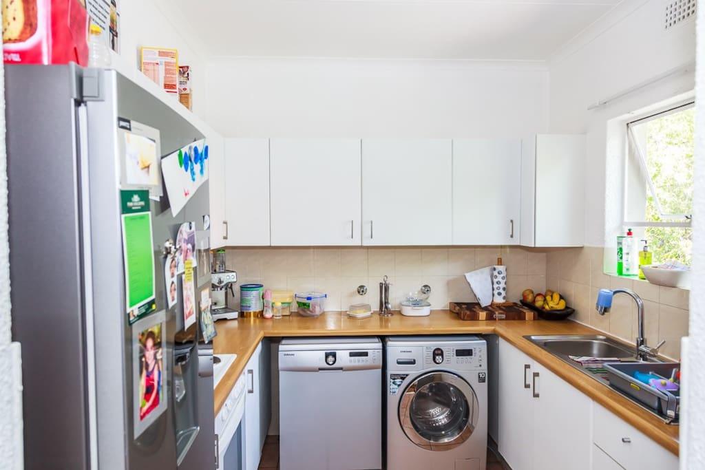 kitchen, washing machine/dryer and dishwasher.