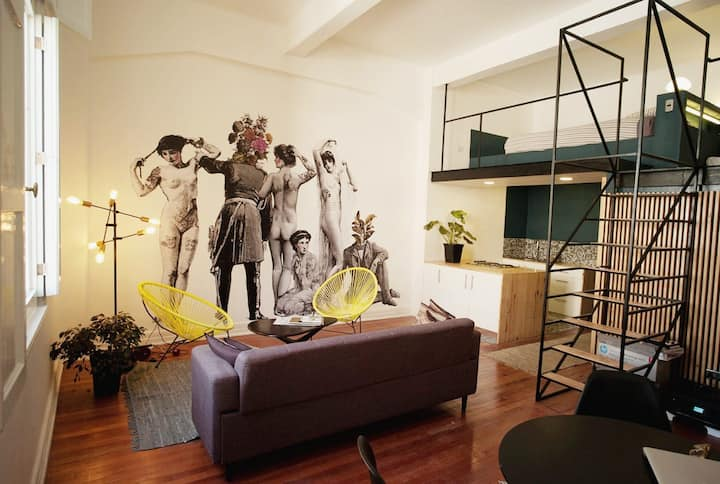 Amazing Loft in the main square of Santiago
