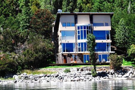 Casa costa de lago Piscina climat. Grandiosa vista