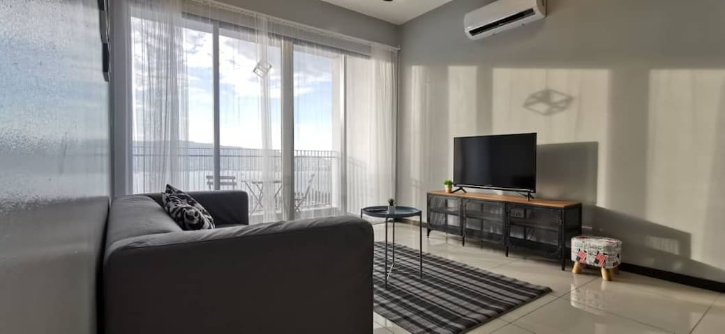 [L08]Cozy&Stylish 2Bedded ,1km to Penang Sentral