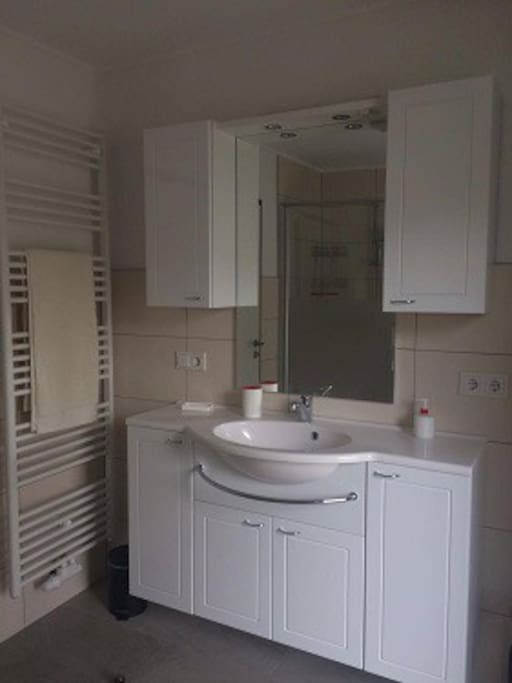 Badkamer met incl. badhanddoeken