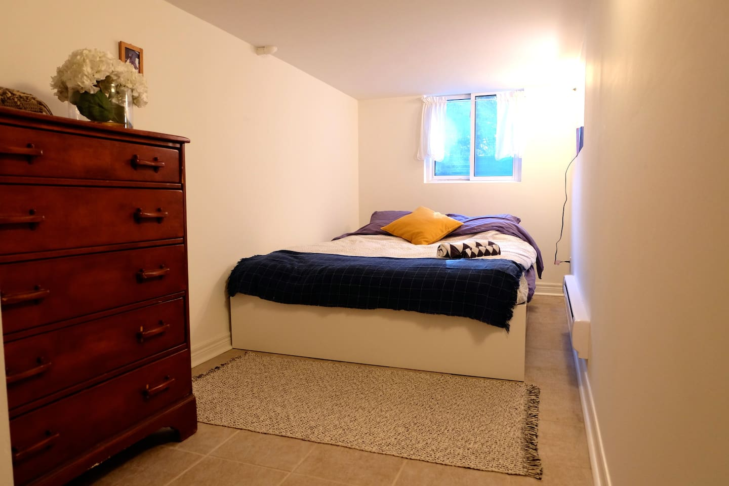 Bedroom with drawers and closet (not shown)