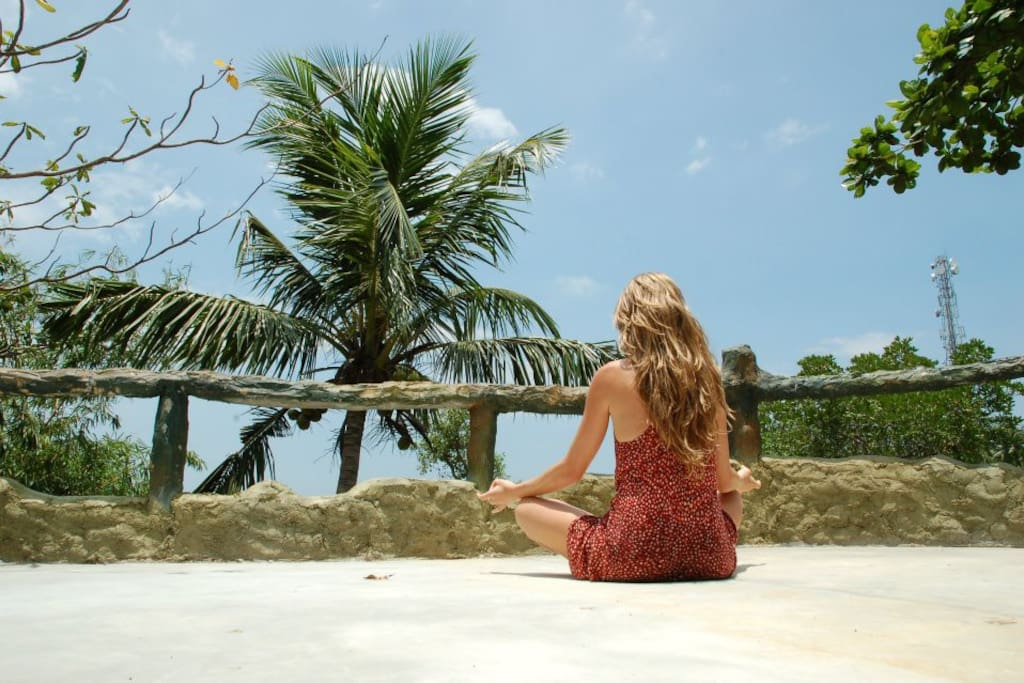 Perfect place to practice your yoga...overlooking the lagoon
