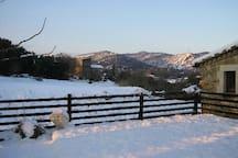 La terraza superior en invierno