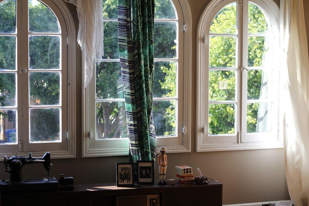 spanish style cross breeze windows.