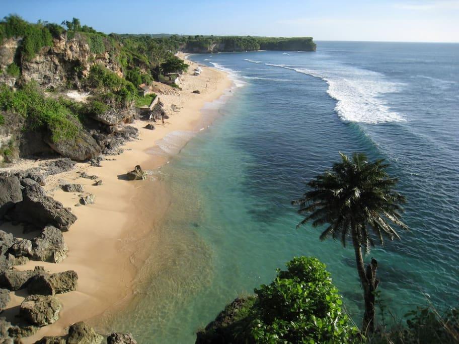 Laid Back Balangan Beach is the closest beach to Villa Leana