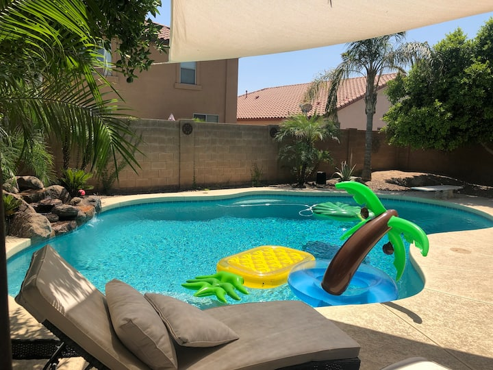 Desert Oasis with Heated Pool, Game Room, & BBQ