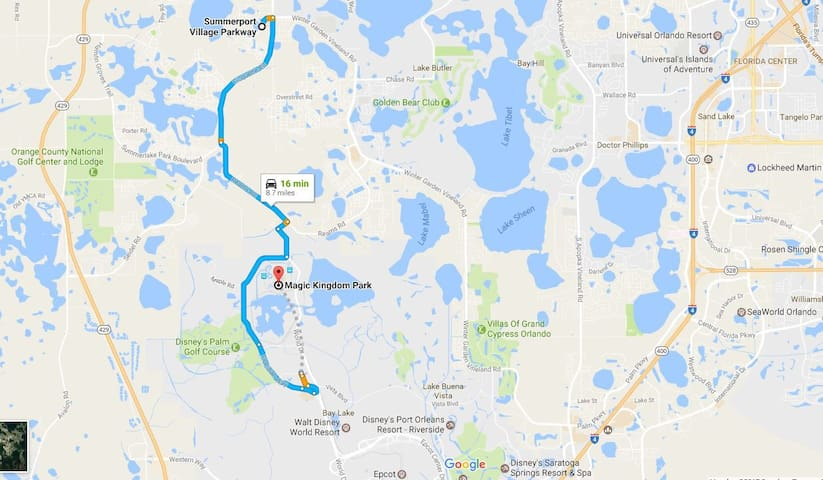 Orlando attractions, Disney; Home away from Home - Windermere - Huis