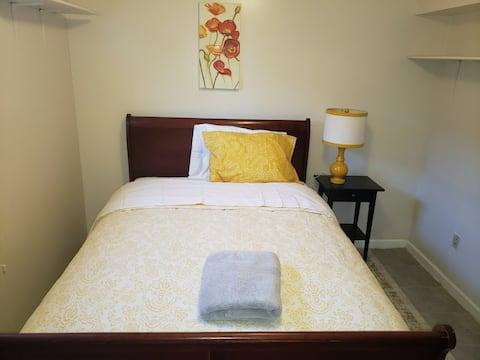 Cozy Bedroom in a Basement near Downtown SS-B3