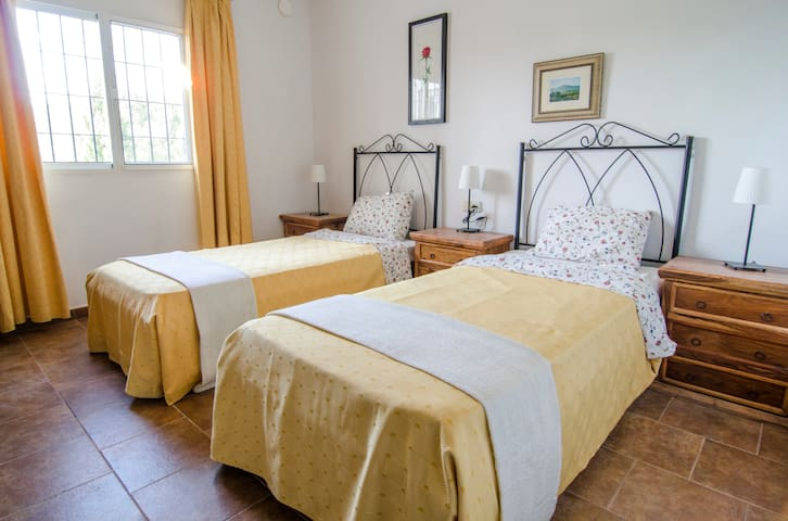Bedroom 3 is a light and spacious double or twin bedroom