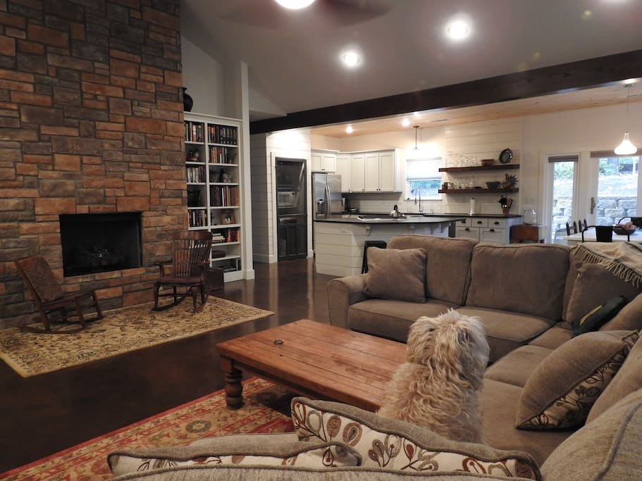 combined living room & kitchen