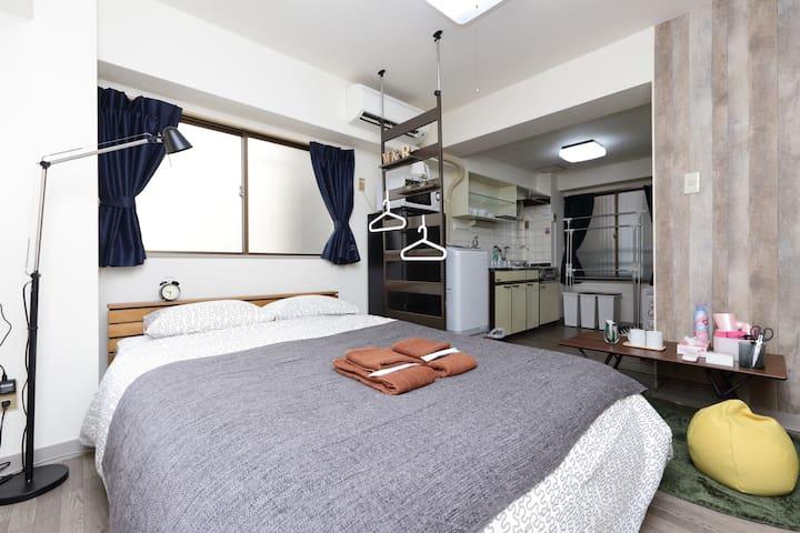 62. NEW open Ikebukuro/Free wifi/MAX 3Guest - Toshima-ku - Appartement