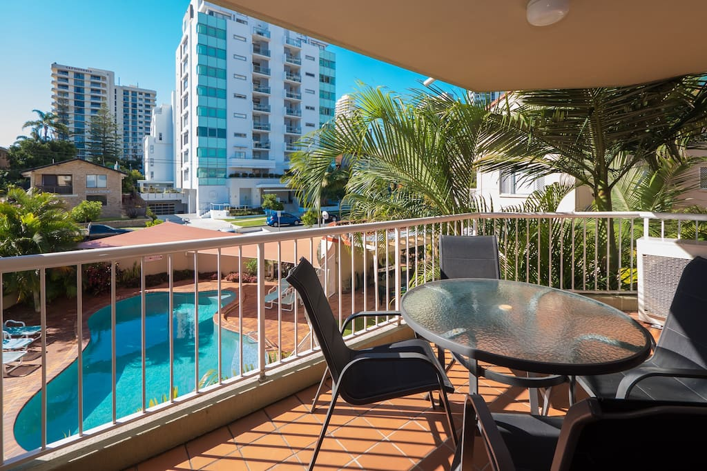 Balcony of One of our 2 bedroom Apartments