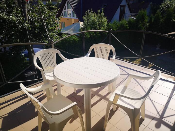 Lucio svečių namai: 2 kambarių butas+balkonas (N3)