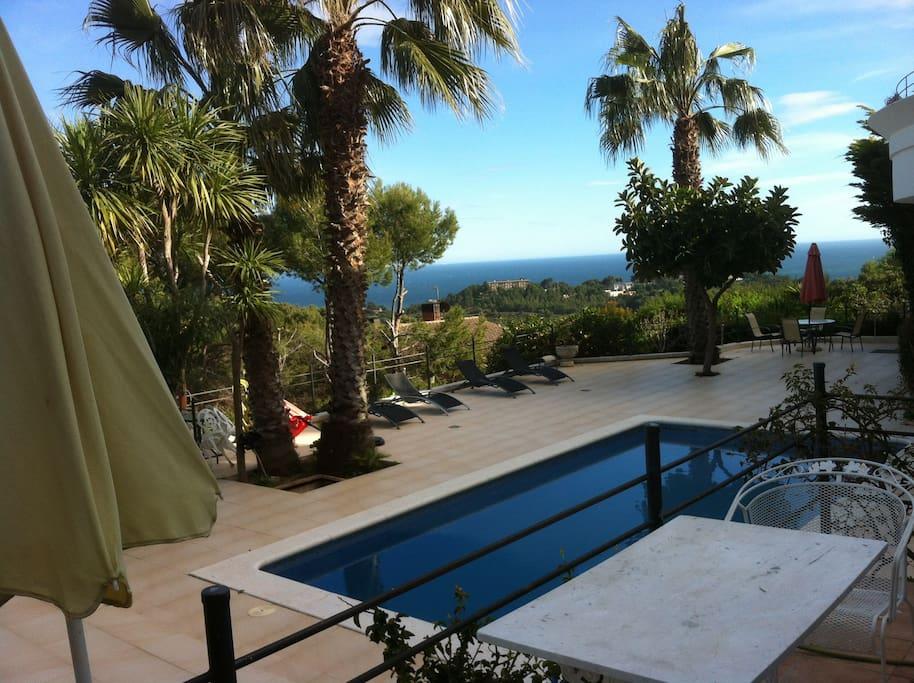 Villa privada con vistas suite con entrada independiente en alquiler en - Suite con piscina privada madrid ...