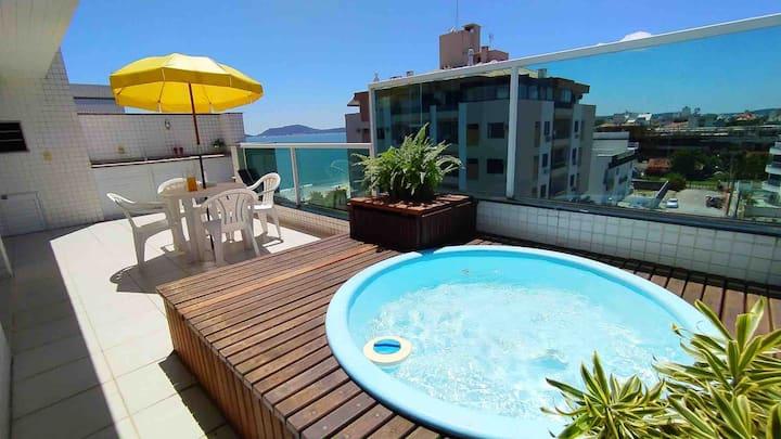 COBERTURA/vista mar/ pé na areia/piscina privê
