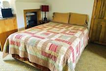 Queen bed in the loft