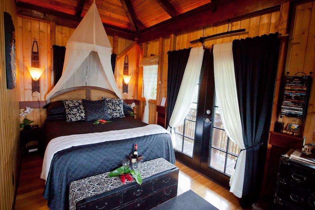Romantic oversize queen bed