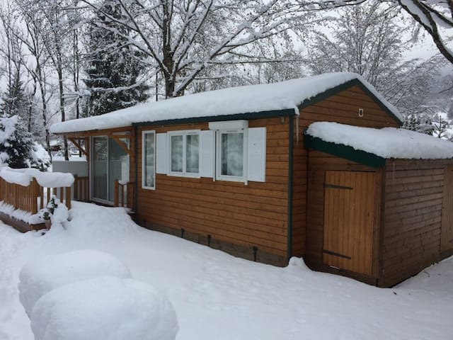 MOBIL HOME 4 PERSONNES STYLE CHALET