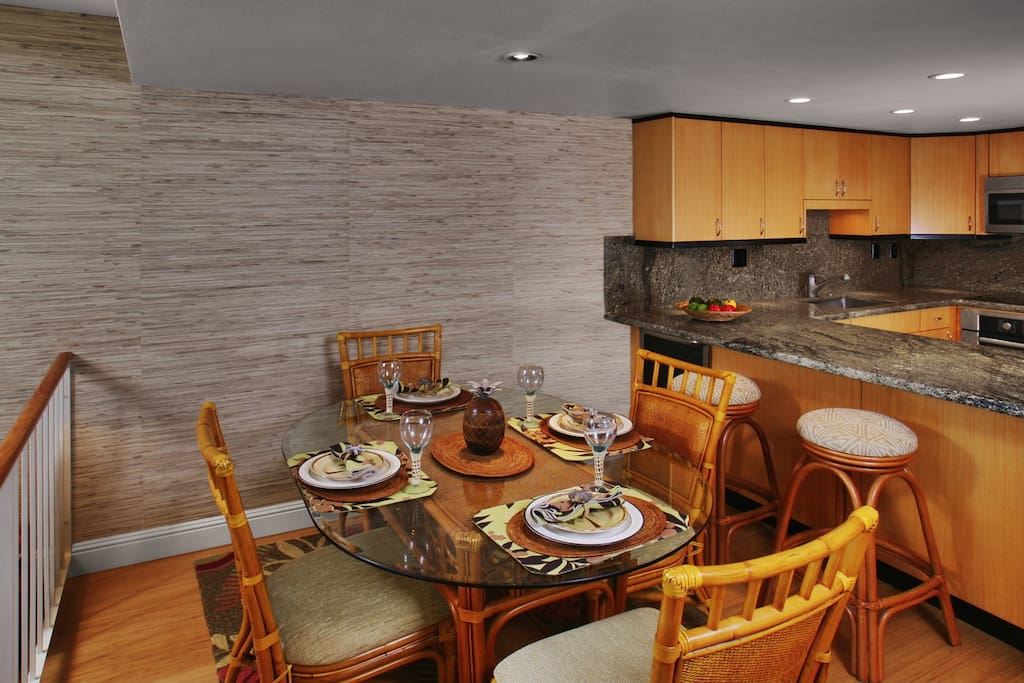 Enjoy eating in the dining area