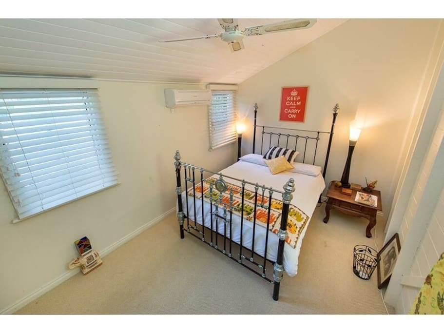 Air conditioned guest bedroom