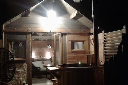Chambre bain nordique et apéro dînatoire vue lac - Novalaise