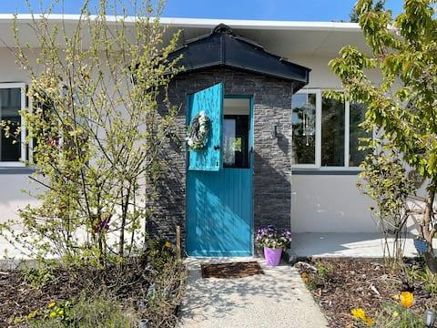 La media puerta en Hawthorn Lodge