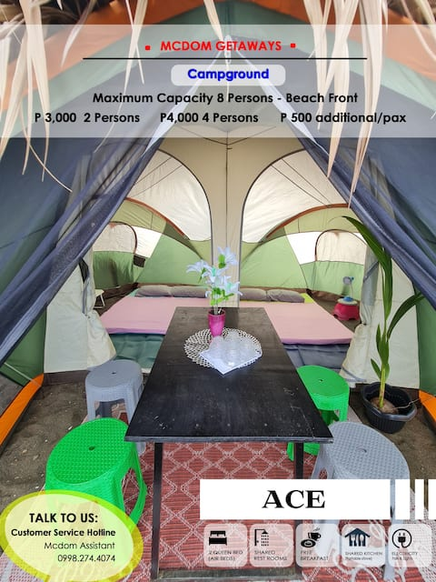 ACE Campground Glamping Beach front in Batangas