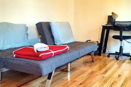 Comfy sofa bed/close to subway!