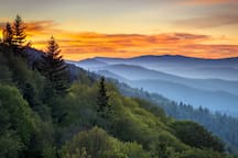 You're perfectly positioned to explore the majestic Smoky Mountains.