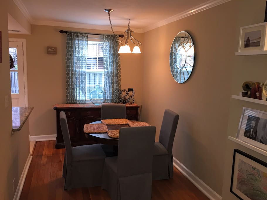 Dinning Area next to Kitchen (option to expand table to accommodate up to 6)