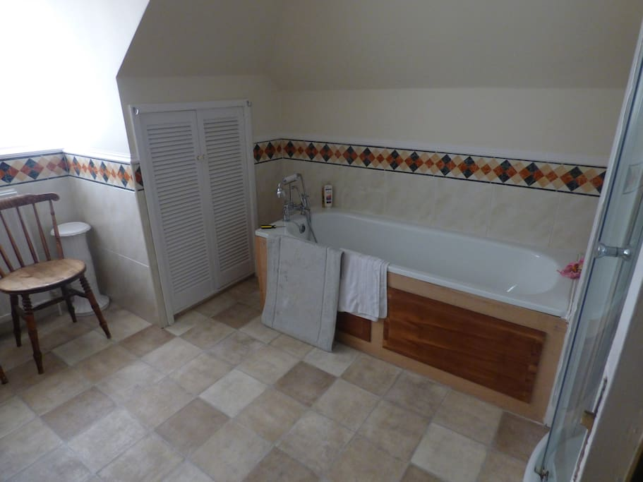 Guest bathroom with shower and bath