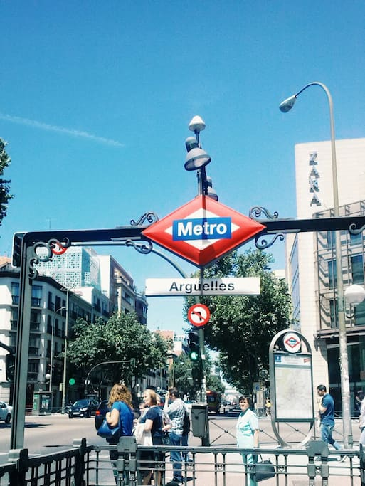 10 seconds from Metro Arguelles