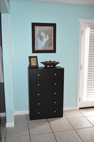 A dresser for your clothing amenities.
