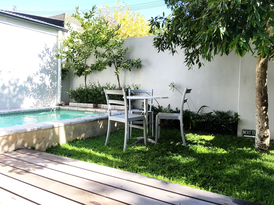Garden and Pool Area on well kept grass.