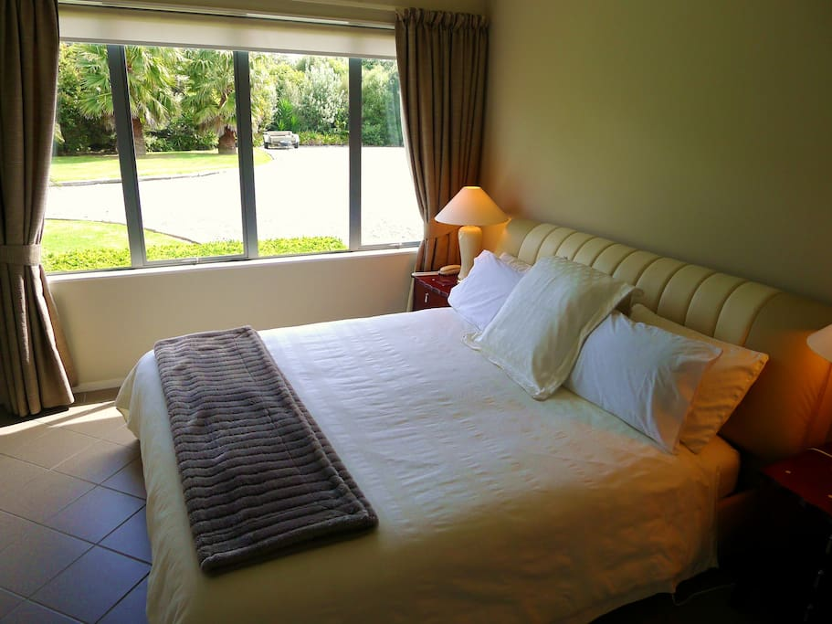 Comfortable Superking Bed .... The Bedroom has a Walk In Robe and Ensuite Bathroom