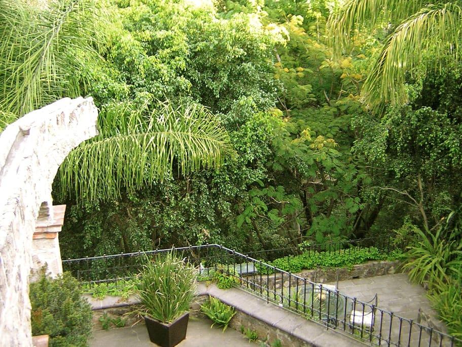 Terraza y cañada vista desde la recámara principal