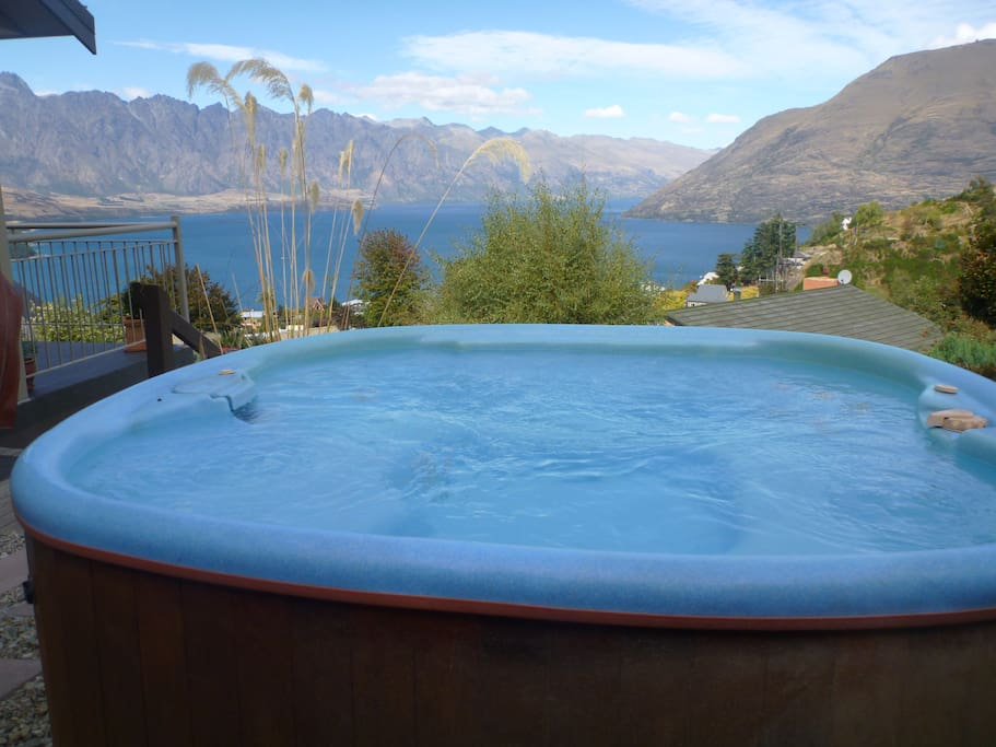 View from Spa pool