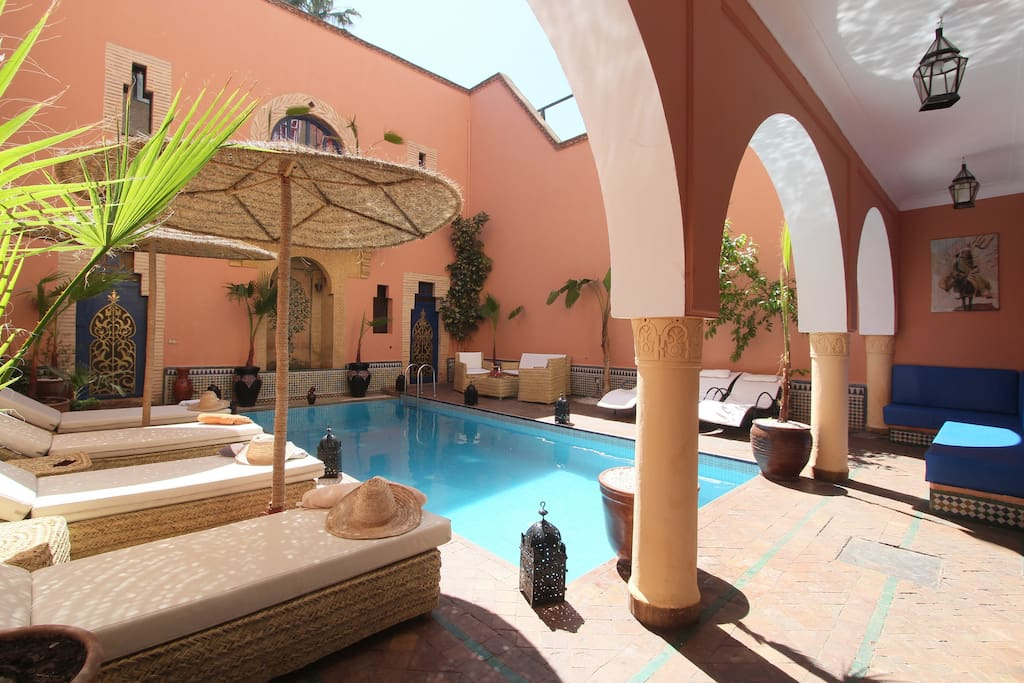 Riad lavillableue chambres d 39 h tes louer marrakech for Chambre d hote marrakech