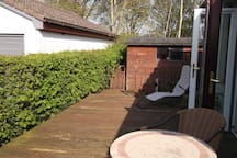 Totally private decking area with sunshine all day