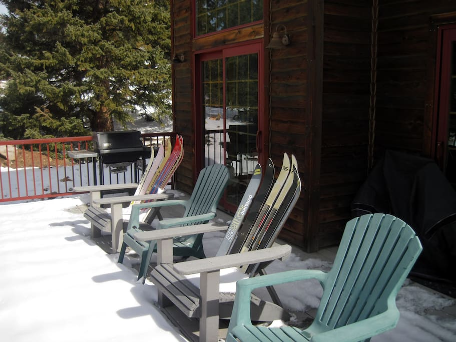 Grill and deck chairs viewing Equity Shutes