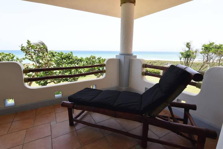 Spacious oceanfront 2BR condo in gated community