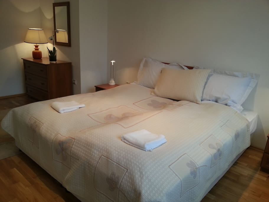 NEW! Huge 180 cm wide double bed, which could be split in two 90 cm beds upon request