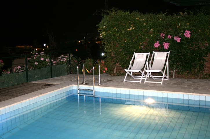 Pelagos Holidays Apts.1 with sea view